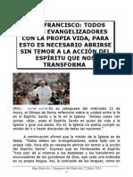 Papa Francisco. Catequesis del Miércoles 22 Mayo 2013