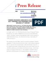 Farmers Press Release ® for IMMEDIATE RELEASE Mark Toohey