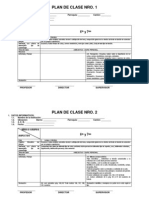 Plan de Clase Nro