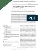Balance Energetico y Regulacion Hipotalamica