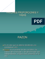 Razones Proporciones y Tasas
