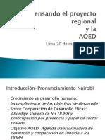 Foro AOED Sub Region Andina Pina Huaman Dia 1