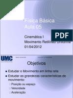 Aula 05 - Física - Cinemática I - MRU