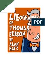 The LIEography of Thomas Edison by Alan Katz