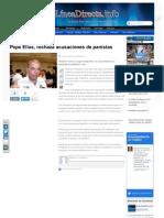 21-05-2013 Pepe Elías, rechaza acusaciones de panistas