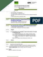 Programa Foro AOED Sub Region Andina 2013