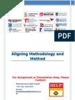 Aligning Methodology and Methods