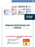 Aligning Methodology and Methods