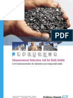 Representaciones Endress Hauser Processautomation Level Measurement for Bulk Solids