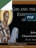 """God and the Existence of Evil. John Chrysostom """"On the Devil"""""""
