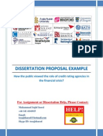 Dissertation Proposal Credit Rating Agencies