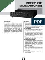 TOA-1700 Series Mixing Amp