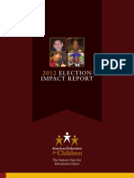 American Federation for Children - 2012 Election Impact Report