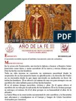 Hora Santa Fiesta de Jesucristo Sumo y Eterno Sacerdote