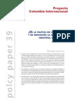 Politica Industrial y de innovación para Colombia