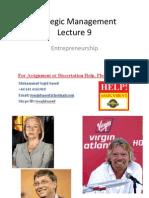 Strategic Management Lecture 9
