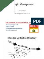 Strategic Management Lecture 11