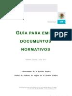 Guía para emitir documentos normativos