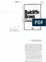 Radcliffe Brown o Mc3a9todo Comparativo Em Antropologia Social