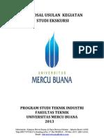Contoh Proposal Studek Perusahaan Karakatau Steel - program studi Teknik Industri Mercu Buana 2013
