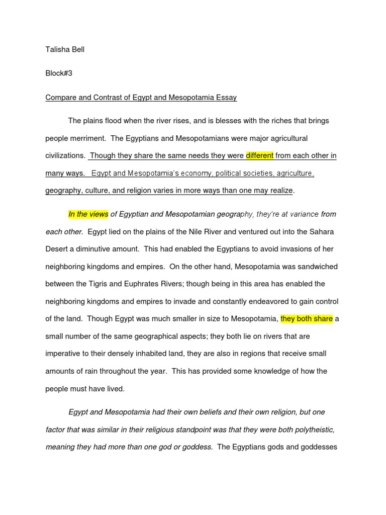 mesopotamia vs essay 91 121 113 106 mesopotamia comparison essay mesopotamia scribd