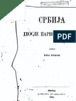 Nil Aleksandrovic Popov - Srbija Posle Pariskoga Mira - Knjiga I