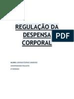 REGULAÇÃO DA DESPENSA CORPORAL