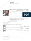 English Test 7th Grade - Sports