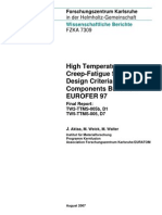High Temp Creep-fatigue Crit for Fusion Eurofer 97