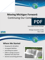 2013 State of the State of Michigan by State Budget Director