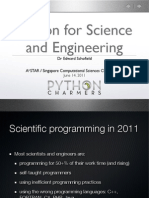 Python for Sciences and Engineering