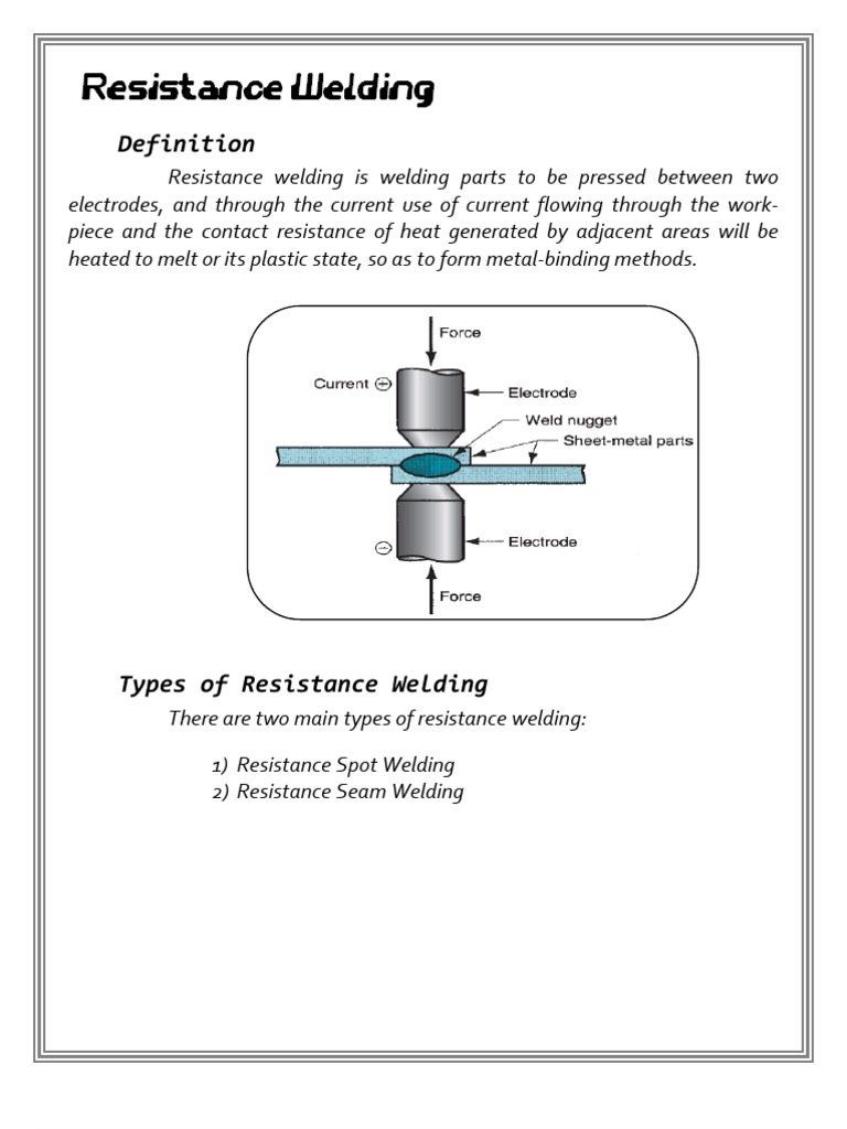 Resistance Oxy Acetylene Welding Procedural Knowledge Diagram