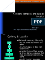 Temporal and Spatial Locality