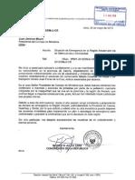 OFICIOS AL PRESIDENTE DE LA REPUBLICA, PREMIER Y MINISTRO DEL INTERIOR