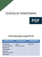 Tecnicas de Termoterapia
