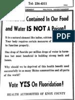 Knox county health authorities on fluoridation Camden Herald, 1969