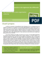SOLOMON, J.-É. «Les modes de PRD, Des solutions pour votre organisation collective»