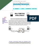 Burgoseletronica - Instrumentação - Multímetro analógico - Função ACV
