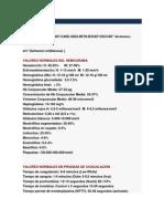 Valores Normales en Pruebas de Laboratorio