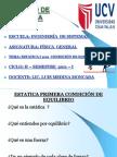 ESTATICA I PRIMERA CONDICIÓN DE EQULIBRIO