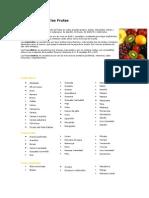 27910131 Clasificacion de Las Frutas