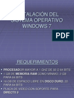 Instalacicon Del Sistema Operativo Windows 7