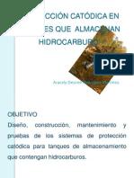 PROTECCIÓN CATÓDICA EN TANQUES QUE  ALMACENAN HIDROCARBURO- desiree