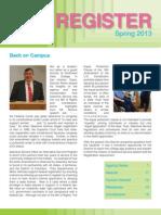 Register - Spring 2013