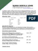 Oluwajana's CV