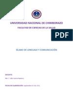 SÍLABO DE LENGUAJE Y COMUNICACIÓN LABORATORIO CLÍMICO 2012
