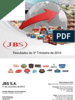 Press-release referente ao 3T10