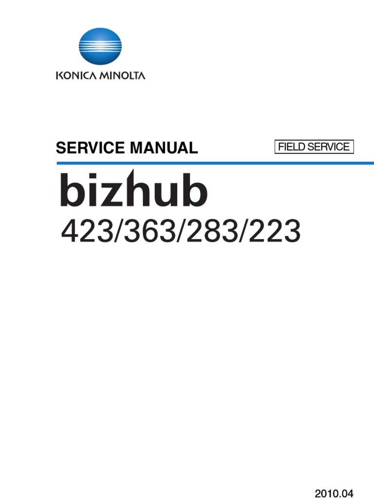 bizhub423_363_283_223FieldServiceManual | Ac Power Plugs And Sockets |  Electrical Connector