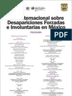 Foro internacional sobre desapariciones forzadas e involuntarias en México