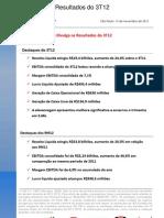 Press-release referente ao 3T12